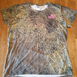 Mosey Oak camo shirt with pink, size large